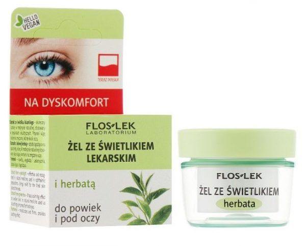 Floslek Гель для кожи вокруг глаз с очанкой и зеленым чаем Lid & under eye gel with eyebright and green tea, 10 г